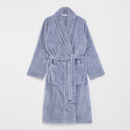 Sheridan Plush Robe Atlantic