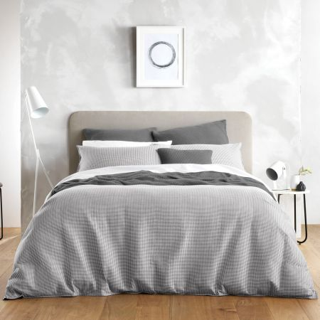 Sheridan Abington Quilt Cover Set Grey
