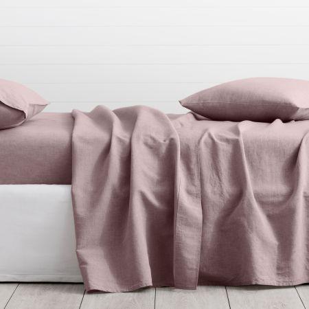 Sheridan Washed Linen Cotton Flat Sheet